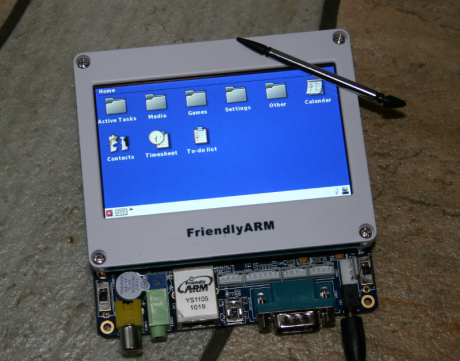 Mini6410 running an OpenEmbedded built GPE Image